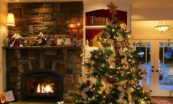 decoracion-de-arboles-de-navidad-chimenea-tradicional