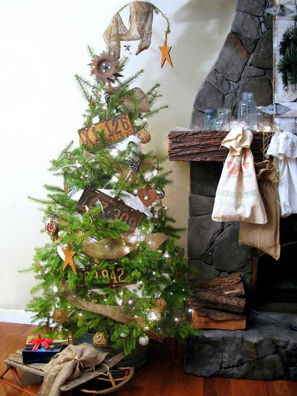 Christmas-style-vintage-decoration-of-trees