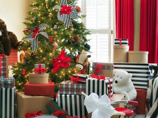 decoracion-de-arboles-de-navidad-flores-tela