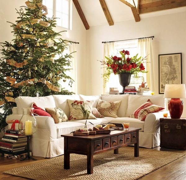 Decoration-of-trees-of-christmas-great-room