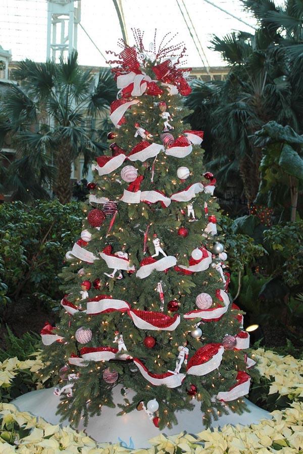 decoracion-de-arboles-de-navidad-guirnalda-blanco-rojo