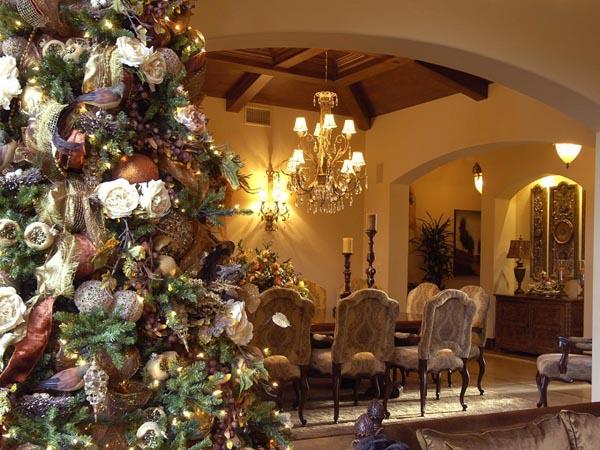 decoracion-de-arboles-de-navidad-lazos-bolas-flores