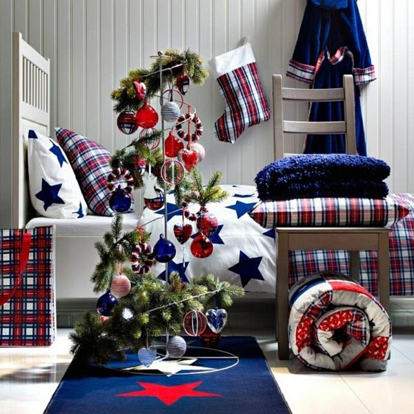 Christmas tree decorations-modern-bedroom