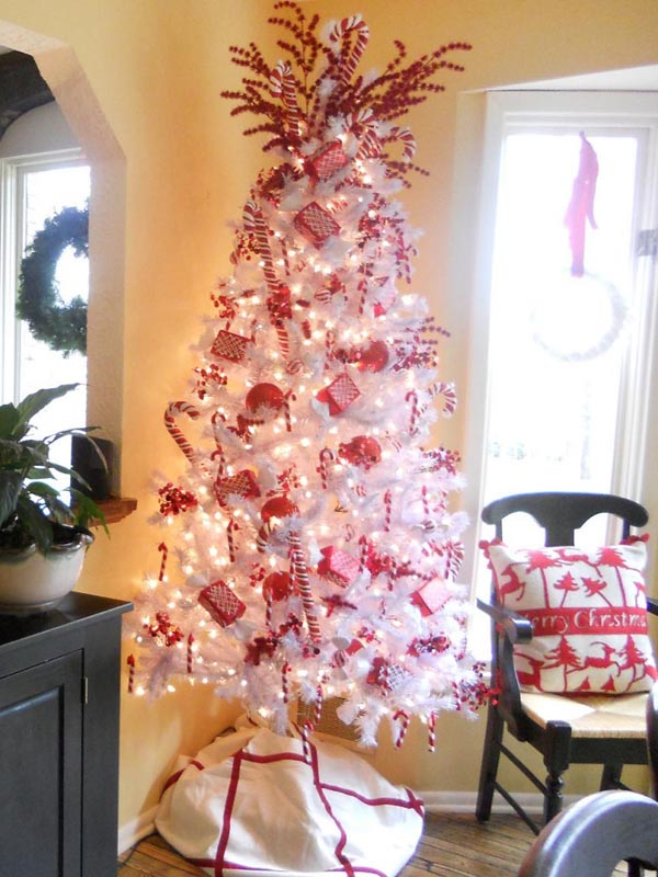 Christmas tree decoration-red-white