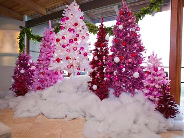 decoracion-de-arboles-de-navidad-rosa-algodon