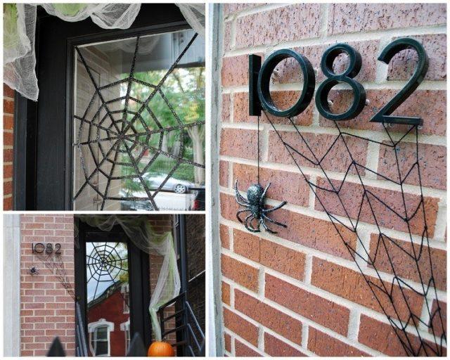 decoracion-halloween-adornos-telaranas-metal-alambre
