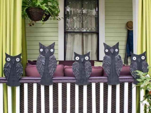 Halloween-decoration-owls-carton-color-black
