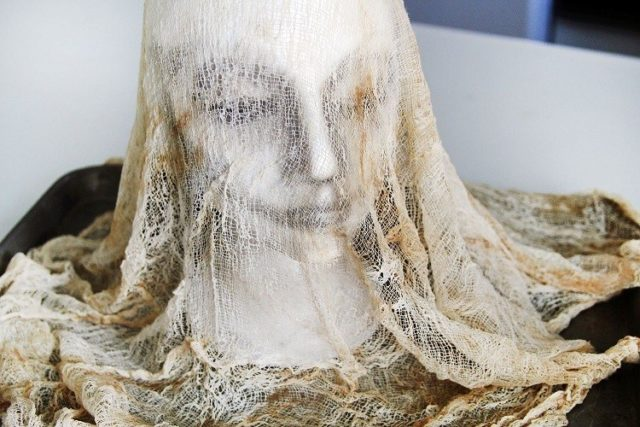 Decoration-halloween-head-manikin-fabric-gauze