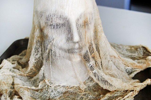 Decoration-halloween-head-manikin-fabric-gauze