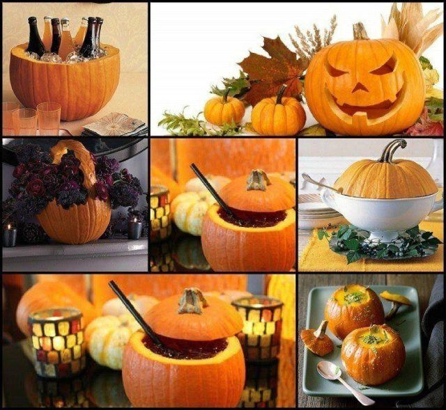 Decoration-halloween-pumpkin-trimmed-punch-fruit