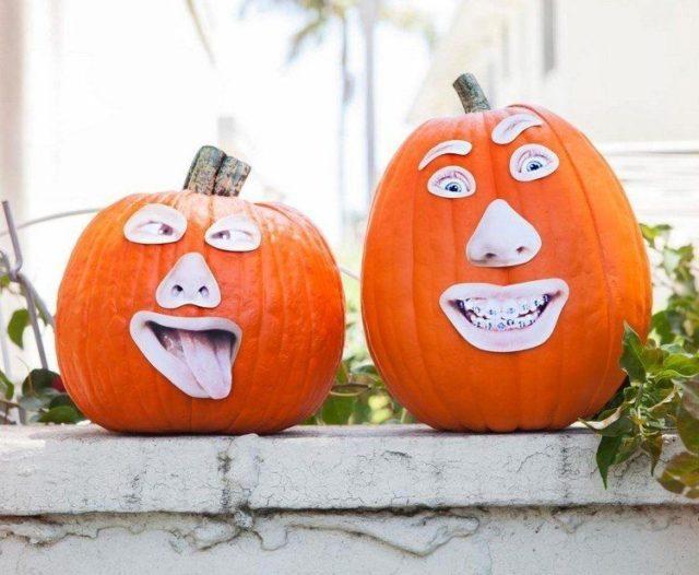 decoracion-halloween-calabazas-decoradas-ojos-bocas