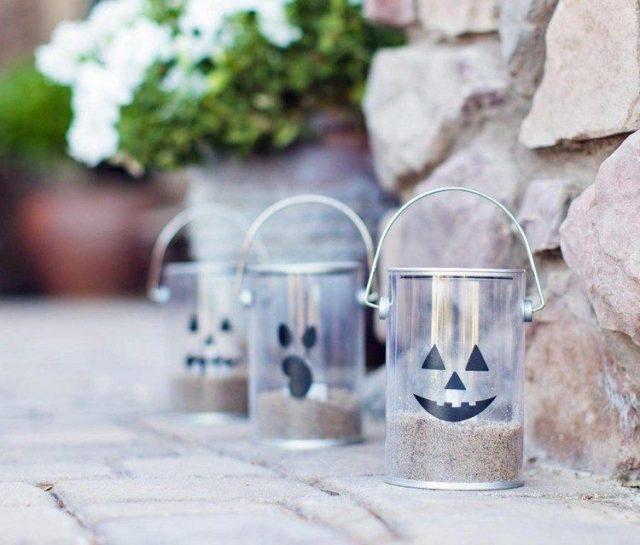 decoracion-halloween-faroles-transparentes-caras-arena