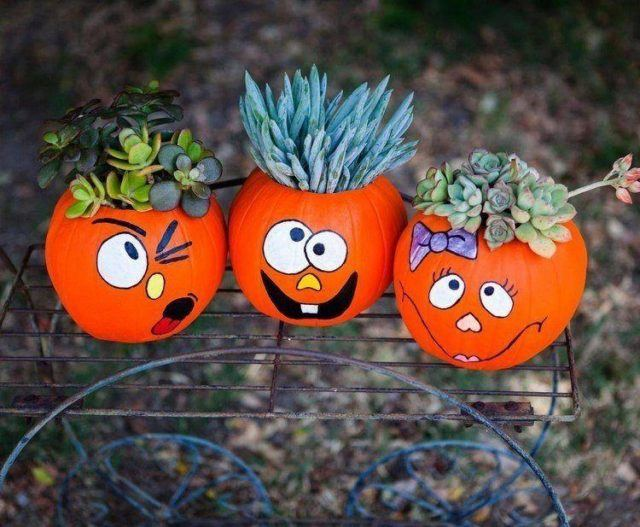 Halloween decorations-crafts-pumpkins