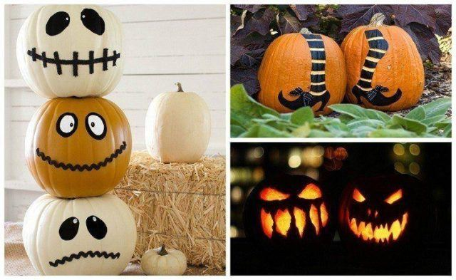decoracion-halloween-originales-diseños-calabazas-halloween