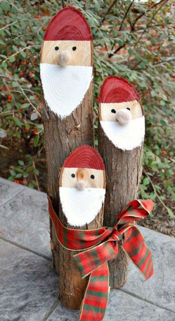 decoracion-navidad-exterior-trncos-papa-noel