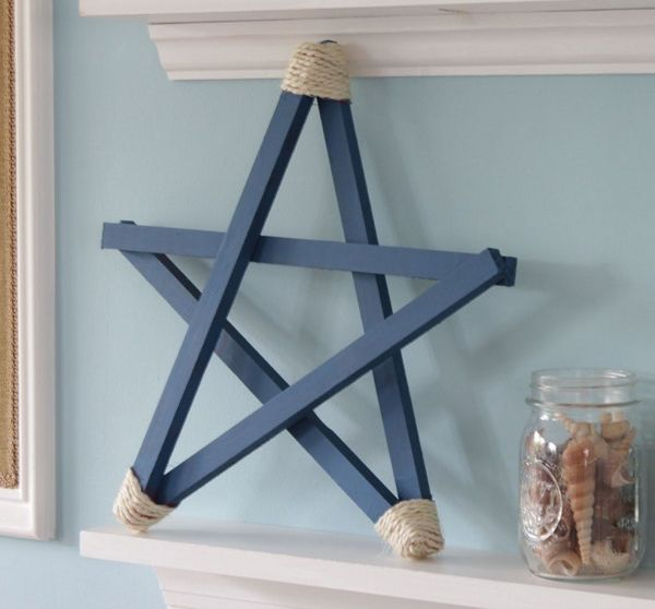 Stars-of-christmas-decorated-rope-blue