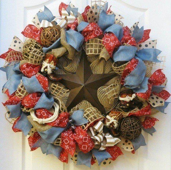 Christmas-decorated stars