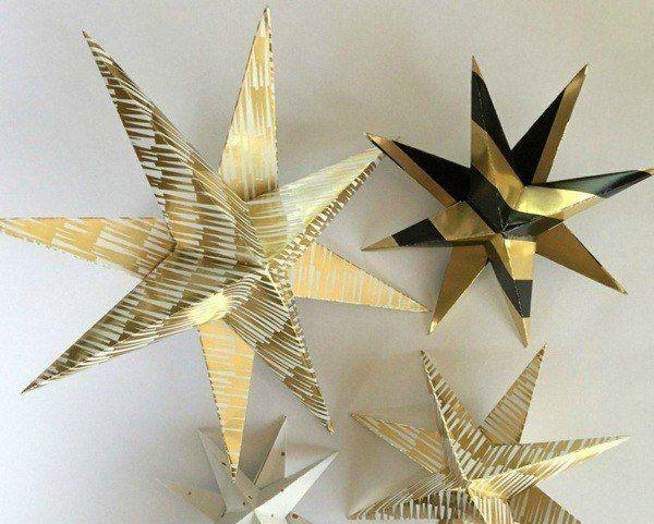 Christmas-golden-and-black stars