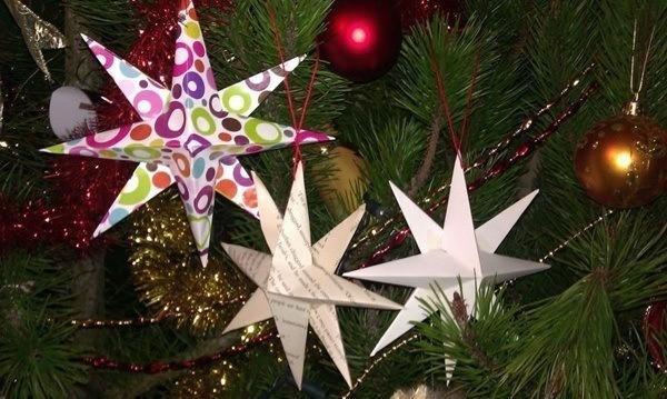 estrellas-de-navidad-papel-periodico