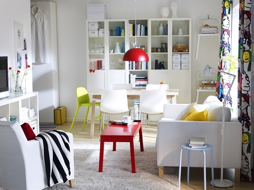 M s de 100 salones peque os modernos y confortables para - Salon pequeno ikea ...