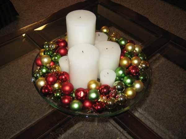 Velas de navidad decoraci n ideas fotos - Bolas de navidad grandes ...