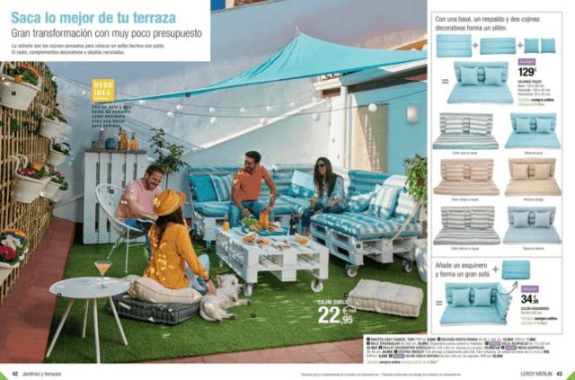 Sofas terraza detrattan muebles de terraza sofs de - Muebles de terraza leroy merlin 2017 ...