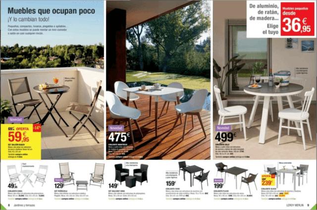 Muebles jardin barcelona mesa desmontable de acero con - Leroy merlin barcelona ...