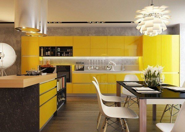 Kitchens-modern-colors-warm