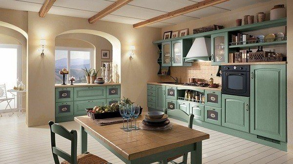 Kitchens-modern-italian-furniture-green