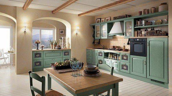 cocinas-modernas-italianas-muebles-verdes