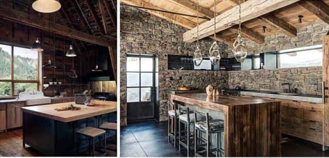 Cocinas rusticas de piedra con. diseño moderno   espaciohogar.com