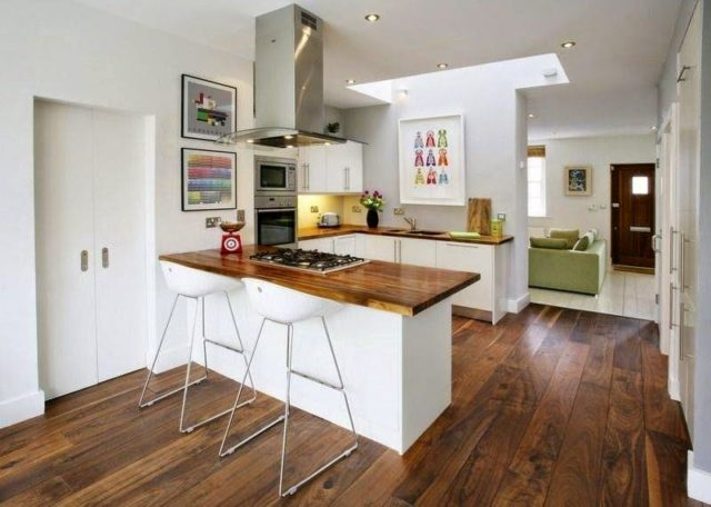cocinas-rusticas-modernas-cocina-pequeña - EspacioHogar.com
