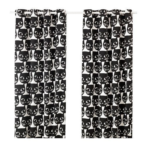 cortinas-para-cocina-ikea-gatos-negros