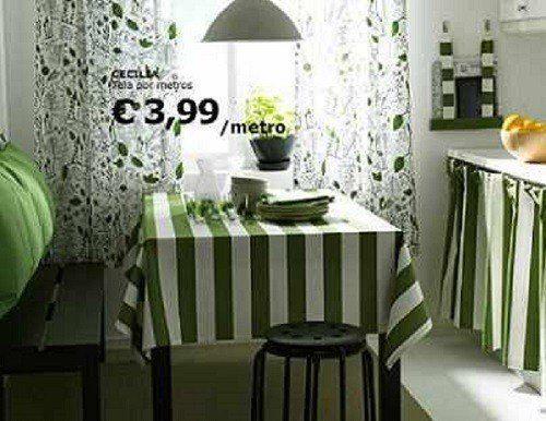 De 100 fotos de cortinas de cocina modernas - Cortinas comedor ikea ...