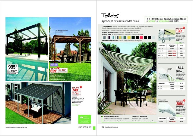 Pergolas leroy merlin madera latest gallery of catlogo for Casetas jardin leroy merlin