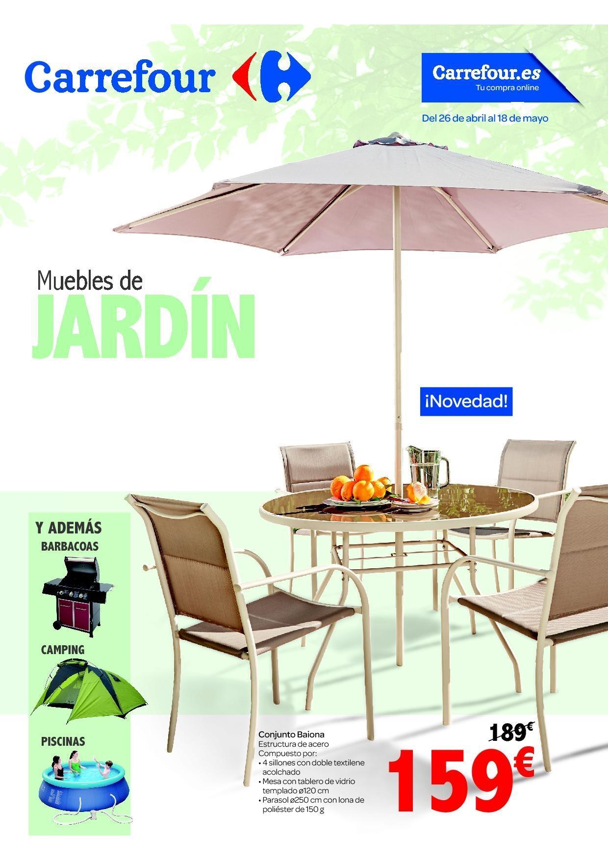 Cat logo carrefour muebles de jard n verano 2016 for Fundas para muebles de jardin carrefour