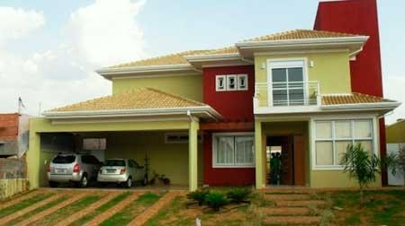 50 fotos e ideas de colores para fachadas de casas y for Colores para frentes de casas