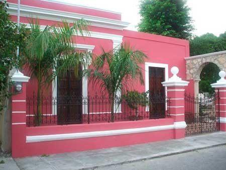50 fotos e ideas de colores para fachadas de casas y - Fachadas de casas pintadas ...