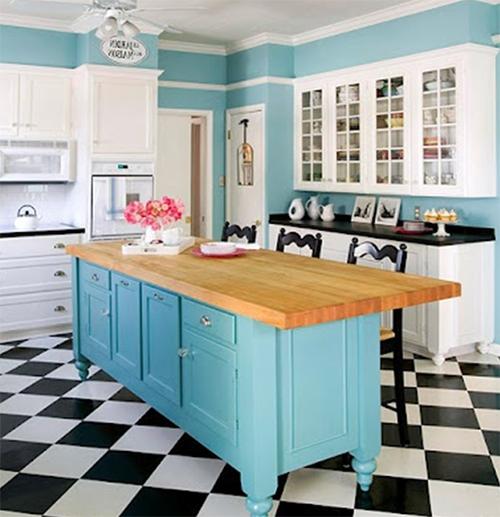 30-fotos-cocinas-decoradas-con-encanto-suelo-ajedrez-color-azul