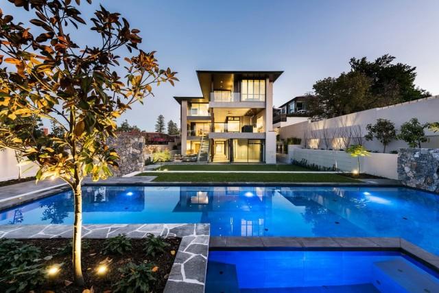 De 200 fotos de fachadas de casas modernas y bonitas del - Casas modernas con piscina ...