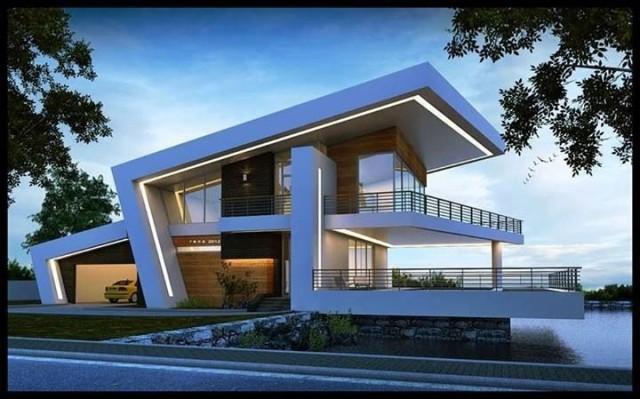 De 200 fotos de fachadas de casas modernas y bonitas del for Las mejores fachadas de las villas
