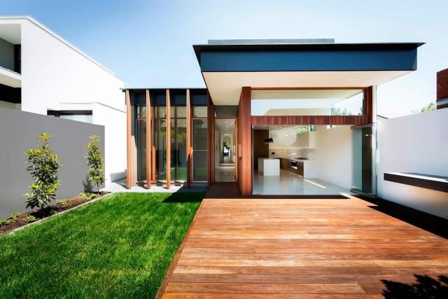 De 200 fotos de fachadas de casas modernas y bonitas del - Fotos de casas en forma de l ...