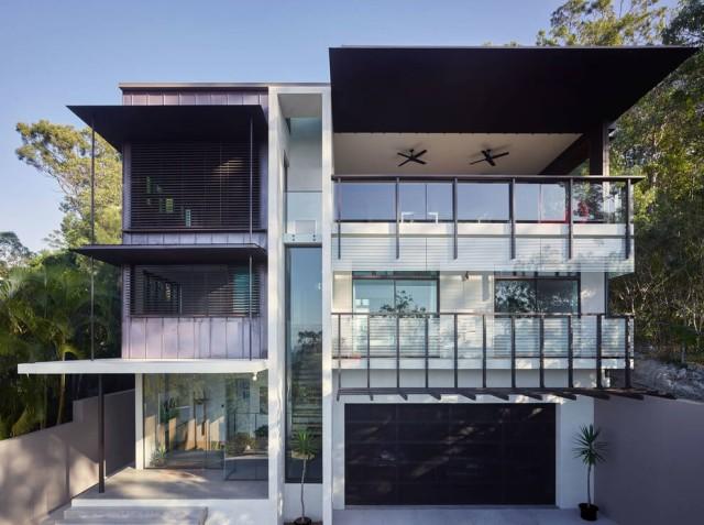 M s de 200 fotos de fachadas de casas modernas y bonitas for Colores para techos de casas