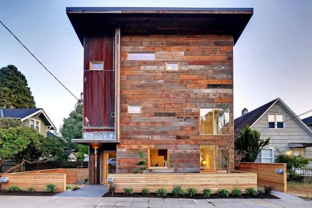 De 200 fotos de fachadas de casas modernas y bonitas del - Casas madera pequenas ...