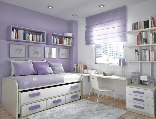 Colores para cuartos juveniles habitaciones en 2018 for Habitacion lila y blanca