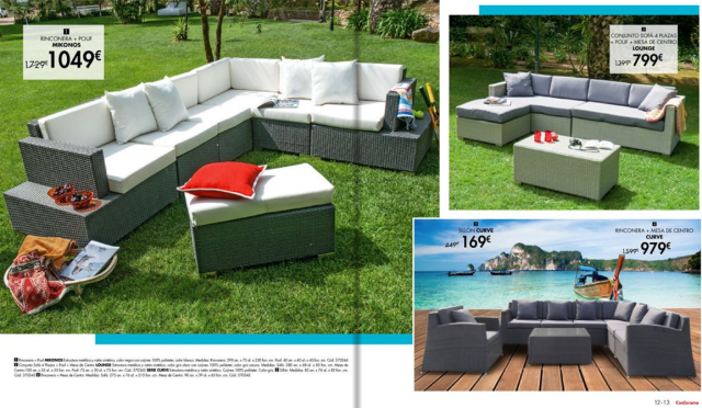 Muebles y decoraci n de jard n conforama 2018 for Revista jardin 2016