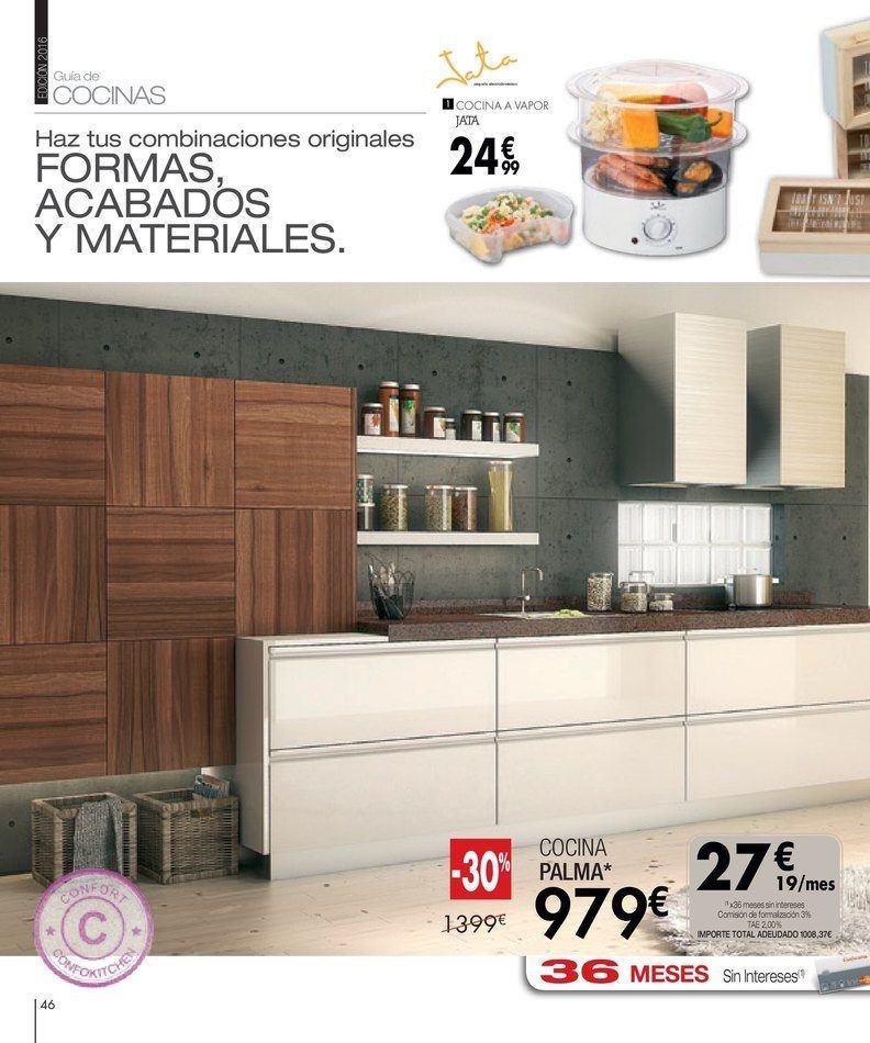 Catalogo cocina conforama color marron for Catalogo cocinas conforama