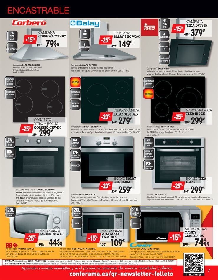 catalogo conforama cocinas electrodomesticos
