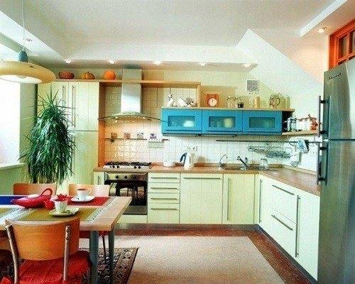 cocinas-pequenas-color-amarilla