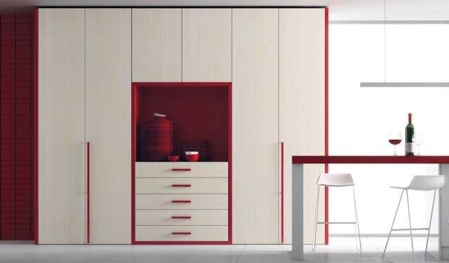 kitchens-small-with-cabinets-red
